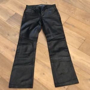 GAP Genuine leather bootcut trouser.
